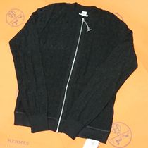 HERMES HERMES 2020SS Chaine d'Ancre zip cardigan size 34 black