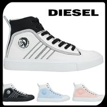 DIESEL Round Toe Rubber Sole Lace-up Casual Style Street Style