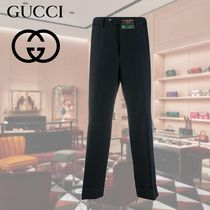 GUCCI Blended Fabrics Street Style Plain Cropped Pants