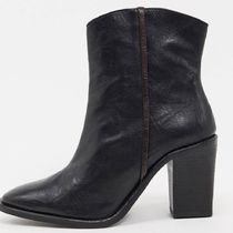 Free People Casual Style Street Style Plain Leather Boots Boots