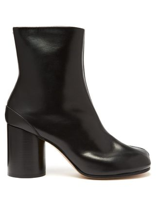 Maison Margiela Ankle & Booties Casual Style Plain Leather Block Heels Ankle & Booties Boots 2
