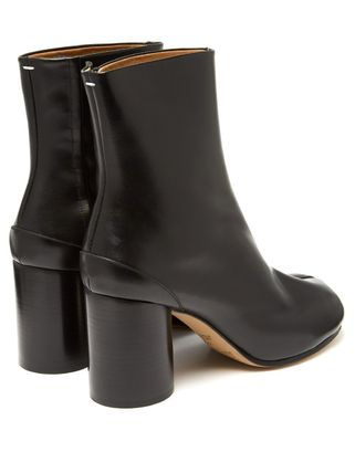 Maison Margiela Ankle & Booties Casual Style Plain Leather Block Heels Ankle & Booties Boots 3