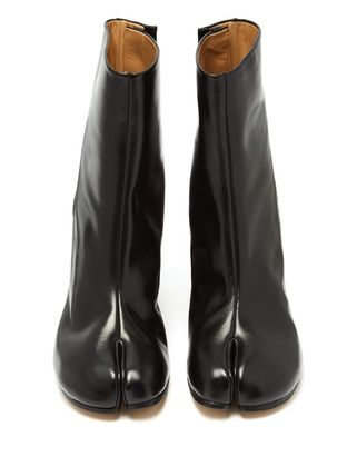 Maison Margiela Ankle & Booties Casual Style Plain Leather Block Heels Ankle & Booties Boots 4