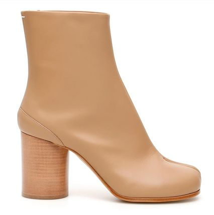 Maison Margiela Ankle & Booties Casual Style Plain Leather Block Heels Ankle & Booties Boots 5