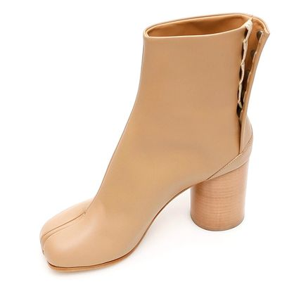 Maison Margiela Ankle & Booties Casual Style Plain Leather Block Heels Ankle & Booties Boots 7