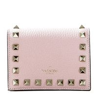 VALENTINO Studded Leather Logo Folding Wallets
