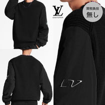 Louis Vuitton Crew Neck Wool Long Sleeves Plain Logos on the Sleeves