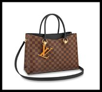 Louis Vuitton DAMIER Casual Style A4 2WAY Leather Office Style Elegant Style