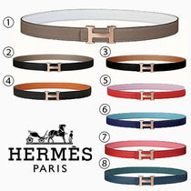 HERMES Casual Style Plain Leather Elegant Style Belts
