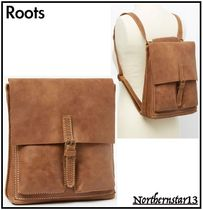 Roots Casual Style Unisex 2WAY 3WAY Plain Leather Handmade