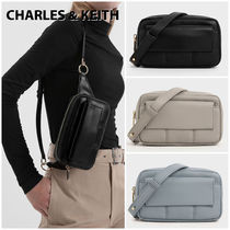 Charles&Keith Casual Style Faux Fur Plain Shoulder Bags