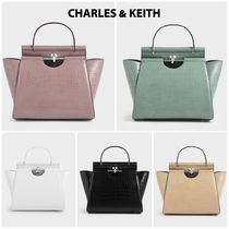 Charles&Keith Casual Style Faux Fur Blended Fabrics 2WAY