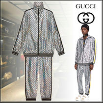 GUCCI Street Style Oversized Co-ord Sweats Two-Piece Sets