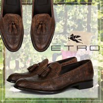 ETRO Paisley Loafers Tassel Leather Loafers & Slip-ons