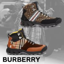 Burberry Tartan Other Plaid Patterns Mountain Boots Street Style Logo