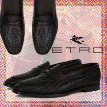 ETRO Moccasin Loafers Plain Leather Loafers & Slip-ons