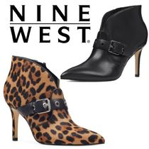 Nine West Leopard Patterns Casual Style Blended Fabrics Plain Leather