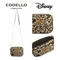 CODELLO Leopard Patterns Casual Style Blended Fabrics Street Style