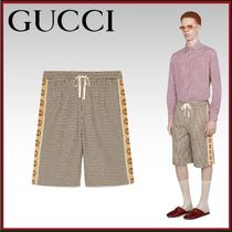 GUCCI Printed Pants Other Check Patterns Monogram Wool