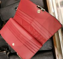 Burberry Leather Long Wallet  Long Wallets