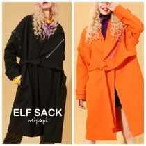 ELF SACK Casual Style Wool Plain Medium Long Oversized Elegant Style