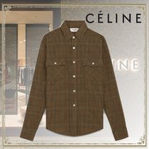 CELINE Other Plaid Patterns Long Sleeves Oversized Shirts