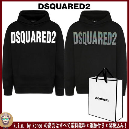 D SQUARED2 Hoodies Unisex Street Style Long Sleeves Plain Logo Luxury Hoodies