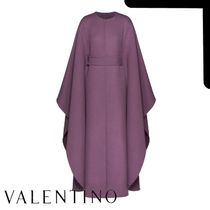 VALENTINO Casual Style Wool Plain Long Coats