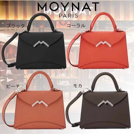 Casual Style Calfskin 2WAY Plain Party Style Elegant Style