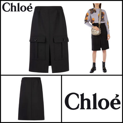 Casual Style Wool Skirts