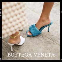 BOTTEGA VENETA Square Toe Casual Style Plain Leather Party Style