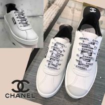 CHANEL Unisex Blended Fabrics Street Style Sneakers
