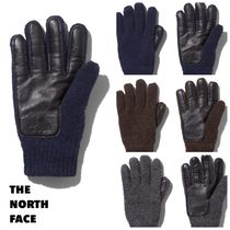 THE NORTH FACE Unisex Wool Blended Fabrics Street Style Plain