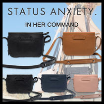STATUS ANXIETY Casual Style Plain Leather Elegant Style Shoulder Bags