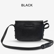 STATUS ANXIETY Casual Style Plain Leather Elegant Style Crossbody Logo