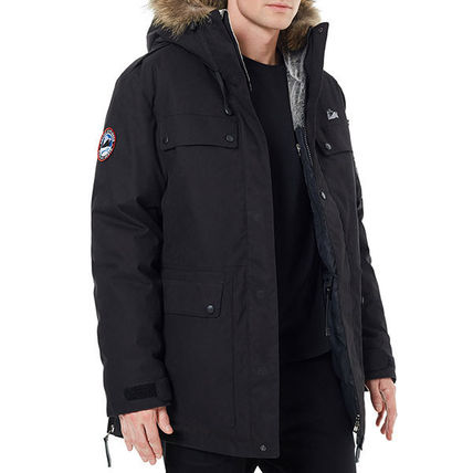 Unisex Nylon Plain Down Jackets
