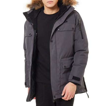 Nylon Plain Down Jackets