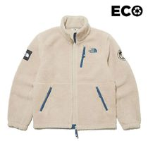 THE NORTH FACE WHITE LABEL Unisex Street Style Long Shearling Logo Jackets