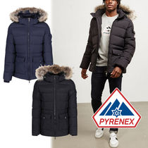 PYRENEX Short Nylon Street Style Plain Oversized Down Jackets