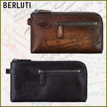 Berluti Plain Leather Logo Wallets & Card Holders
