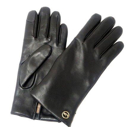 Coach Leather Leather & Faux Leather Gloves