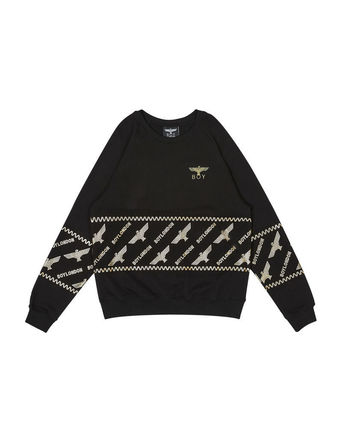 Street Style Long Sleeves Other Animal Patterns Cotton