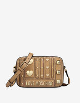 Moschino Casual Style Faux Fur Studded Shoulder Bags