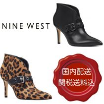 Nine West Leopard Patterns Casual Style Plain Leather Pin Heels