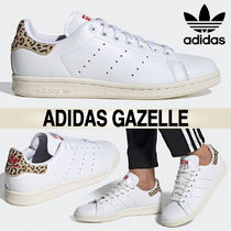 adidas STAN SMITH Leopard Patterns Casual Style Blended Fabrics Leather