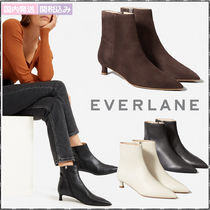 Everlane Plain Office Style Elegant Style Ankle & Booties Boots