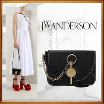 J W ANDERSON Casual Style Leather Party Style Elegant Style Shoulder Bags