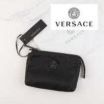 VERSACE Unisex Nylon Plain Wallets & Small Goods