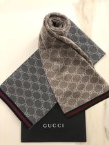 GUCCI Unisex Wool Street Style Scarves
