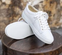 M. MOUSTACHE Casual Style Leather Office Style Low-Top Sneakers